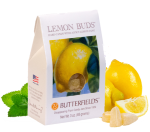 Butterfields Old Fashioned Hard Candies by Butterfields Candy - Lemon Buds hard candy with a juicy lemon tang