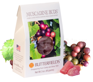 Butterfields Old Fashioned Hard Candies by Butterfields Candy - Muscadine Buds hard candy with a wild grape burst