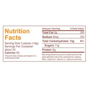 Orange hard candy ingredients