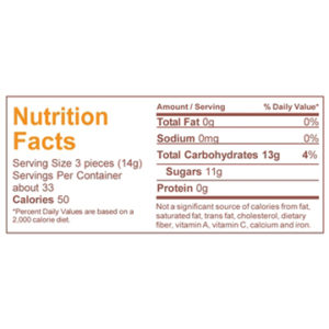 Nutrition information lemon candy
