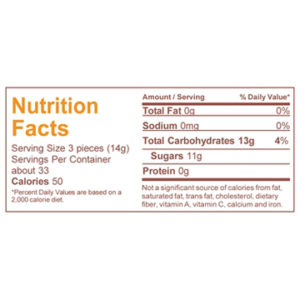 Muscadine candy nutrition