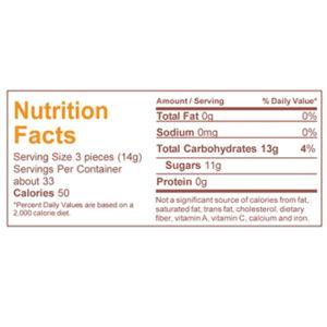 Nutrition peach bud candy