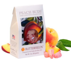 Original Peach Buds fresh peach nectar and sublime coconut - Peach Buds Hard Candy by Butterfields Candy