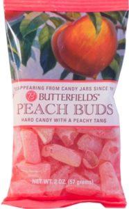 Peach Buds - Peach flavored hard candy