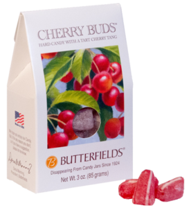 Cherry flavored hard candy