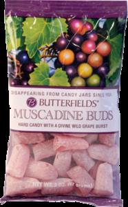 Muscadine hard candy